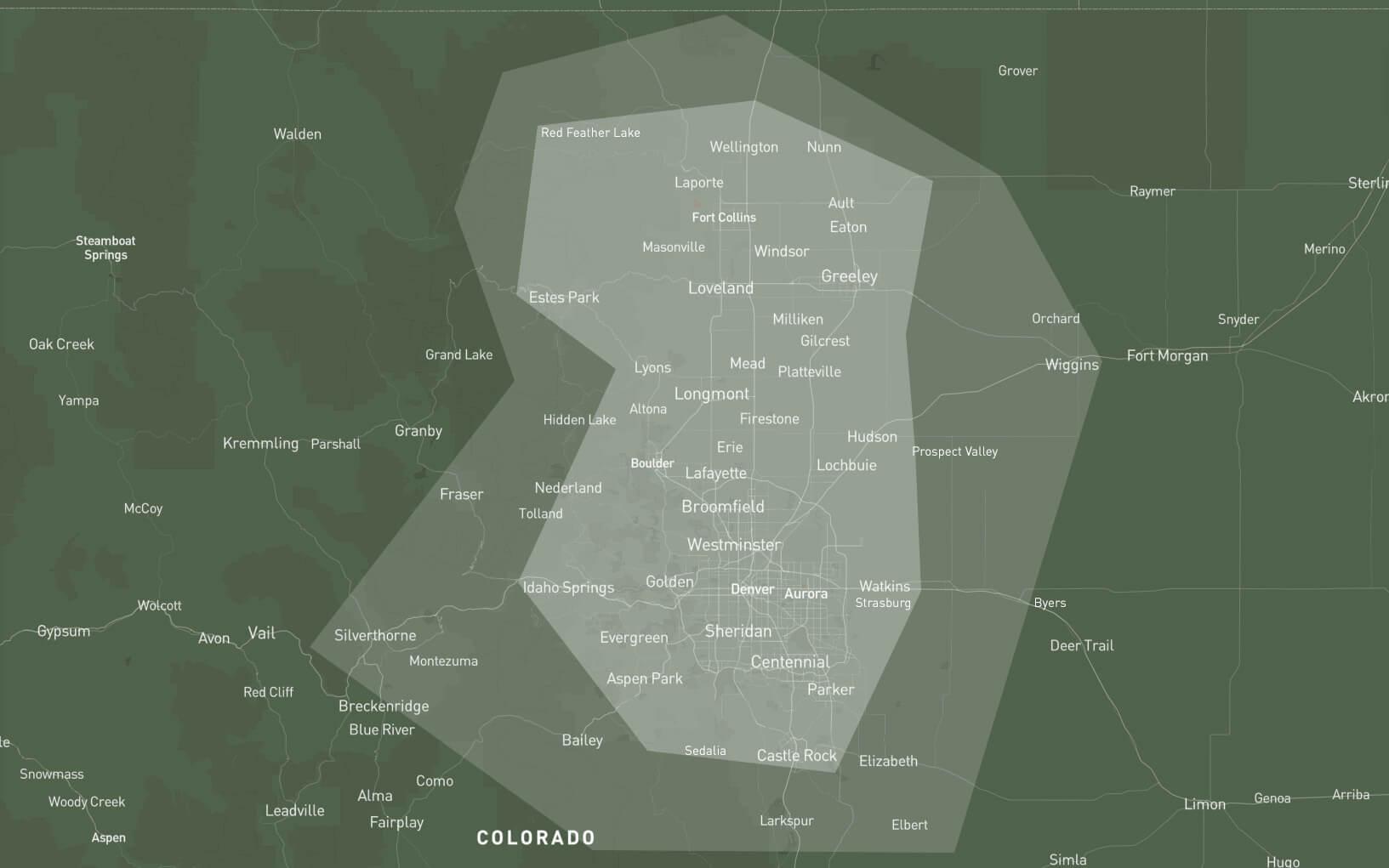 LPM service area map